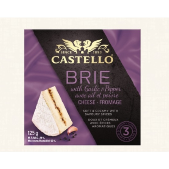 Garlic & Pepper Brie Castello