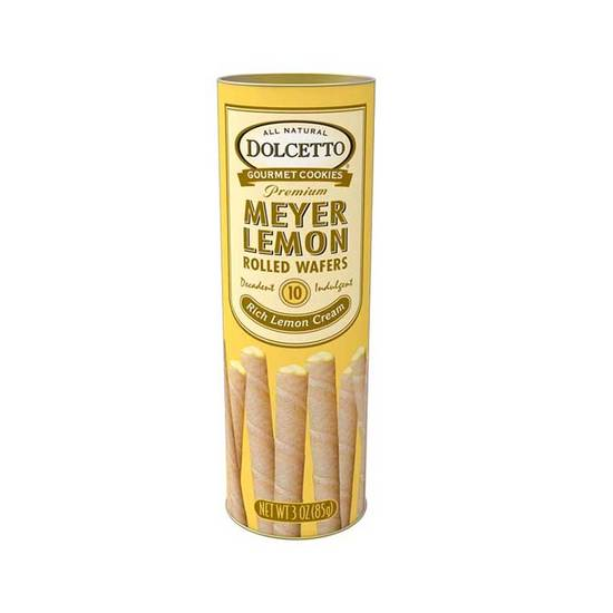Wafer Rolls Tin - Lemon