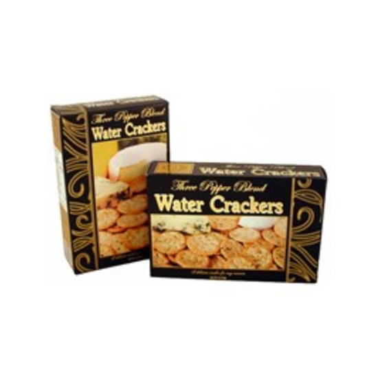 Three Pepper Water Crackers Black