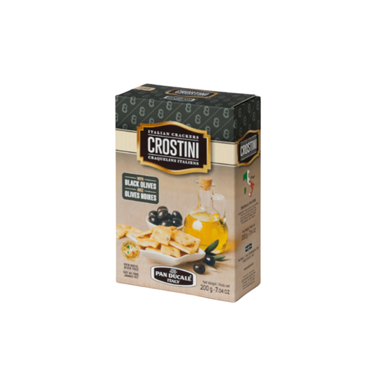 Crostini Crackers Black Olive