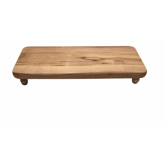Red Birch Wood Charcuterie Board With...